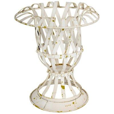 """Wesolowski Lattice Metal Urn Planter Size: 12"""" H x 10.3"""" W x 10.3"""" D"""
