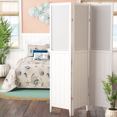 Brigitte 3 Panel Room Divider Finish: White