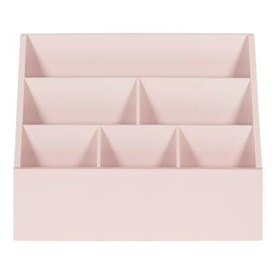 Burnie Wood Wall/Desk Organizer Finish: Pink