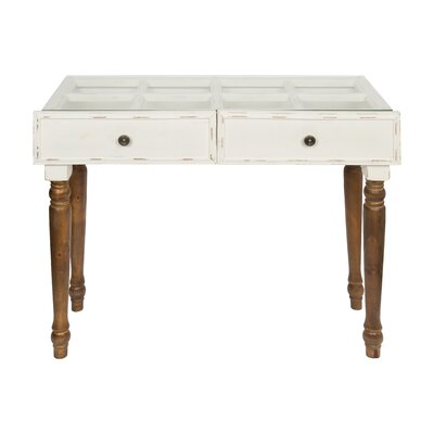 Urbanek Console Table Color: White/Rustic Brown
