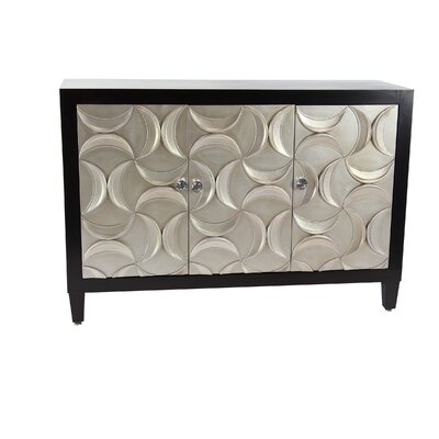 Fenderson Modern Wood 3 Door Accent Cabinet