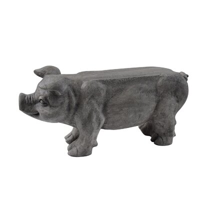 """Stockard Eclectic Pig Bench Size: 17"""" H x 52"""" W 14"""" D, Color: Black"""