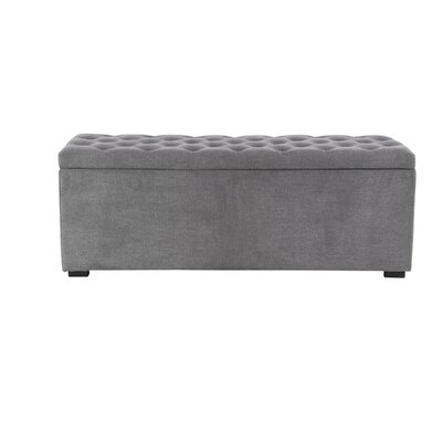 Aahil Eclectic Upholstered Storage Bench