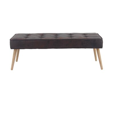 Padula Eclectic Rectangular Solid Wood Bench