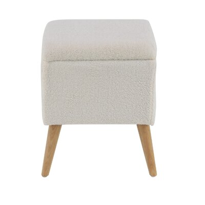 Hillcrest Eclectic Accent Stool Color: White