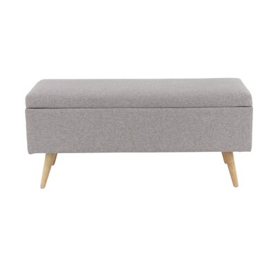 Padillo Upholstered Storage Bench Color: Gray