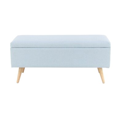 Padillo Upholstered Storage Bench Color: Light Blue