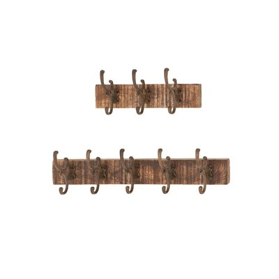 Osterley 2 Piece Wall Mounted Coat Rack Set