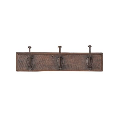 Gauvin Rustic Rectangular Antique Wall Mounted Coat Rack