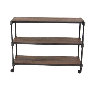 Gatti Rustic 3-Tiered Shelf Console Table