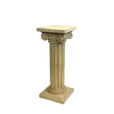 "Charlesworth Pedestal Plant Stand Size: 30.5"" H x 12"" W x 12"" D, Finish: Light Brown"