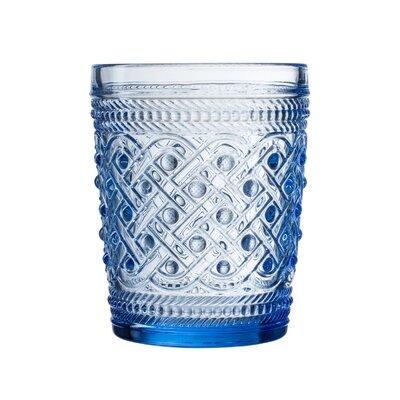 Bistro Ikat Old Fashion Glass Cocktail Glass Color: Blue
