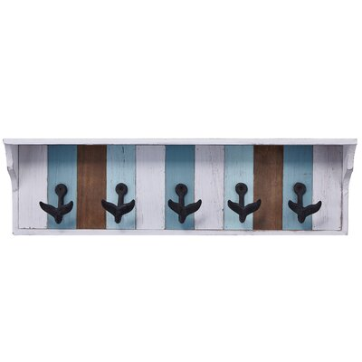 Bridgepointe Holders Metal and Wood Wall Hook