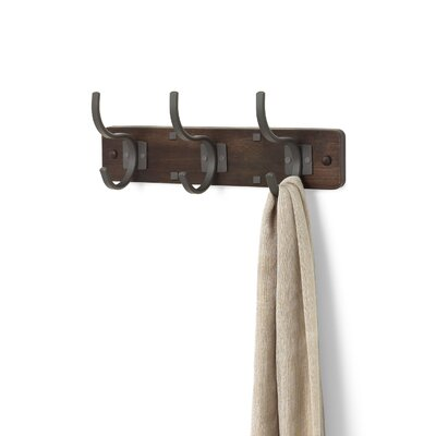Richmond 3-Hook Wall Mounted Coat Rack