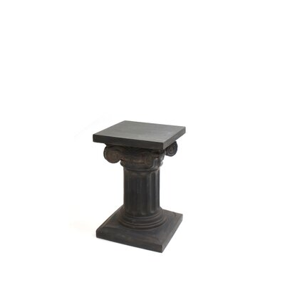 "Charlesworth Pedestal Plant Stand Size: 18"" H x 12"" W x 12"" D, Finish: Dark Brown"