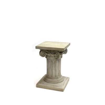 "Charlesworth Pedestal Plant Stand Size: 18"" H x 11"" W x 11"" D, Finish: Light Brown"
