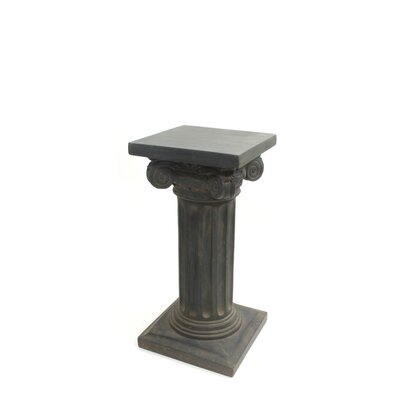 "Charlesworth Pedestal Plant Stand Size: 24"" H x 12"" W x 12"" D, Finish: Dark Brown"
