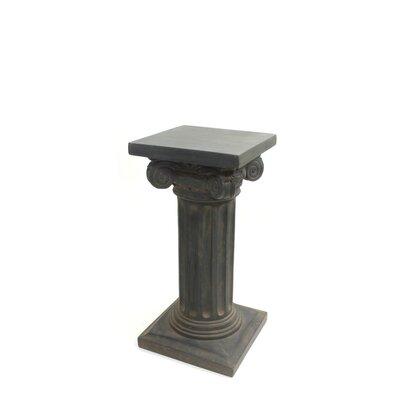 "Charlesworth Pedestal Plant Stand Size: 24"" H x 12"" W x 12"" D, Finish: Dark Brown"
