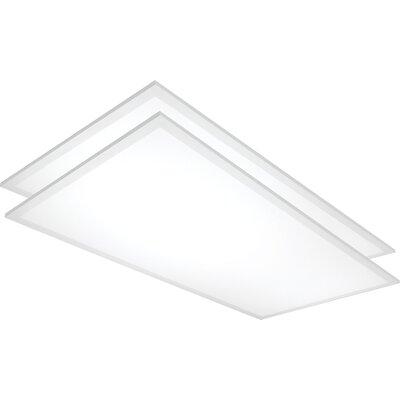 Flat Panel LED Semi Flush Mount Bulb Color Temperature: 5000K