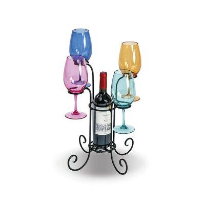 Hetzel Waterfall 1 Bottle Tabletop Wine Glass Rack
