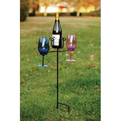 Heuer 1 Bottle Tabletop Wine Glass Rack
