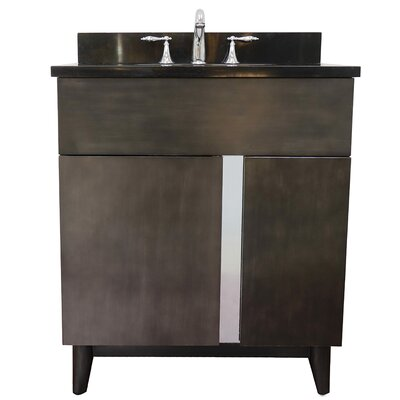 "Galvez 31"" Single Bathroom Vanity Set Color: Black Galaxy"