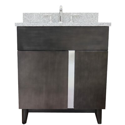 "Galvez 31"" Single Bathroom Vanity Set Color: Gray Granite"