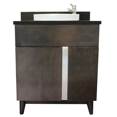 "Galyon 31"" Single Bathroom Vanity Set Color: Black Galaxy"