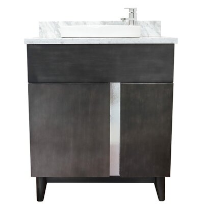 "Galyon 31"" Single Bathroom Vanity Set Color: White Carrara"