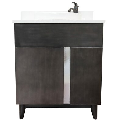 "Galyon 31"" Single Bathroom Vanity Set Color: White Quartz"