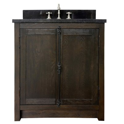 "Ziemer 31"" Single Bathroom Vanity Set Color: Brown Ash/Black Galaxy"