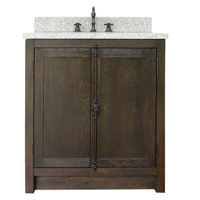 "Ziemer 31"" Single Bathroom Vanity Set Color: Brown Ash/Gray Granite"