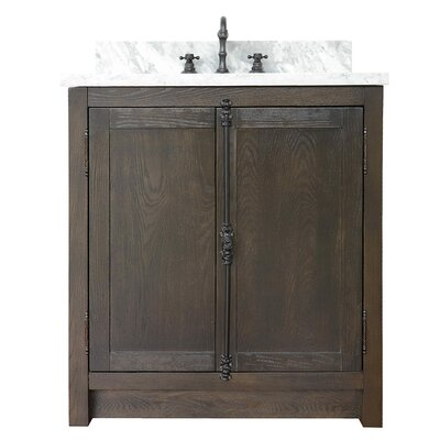 "Ziemer 31"" Single Bathroom Vanity Set Color: Brown Ash/White Carrara"