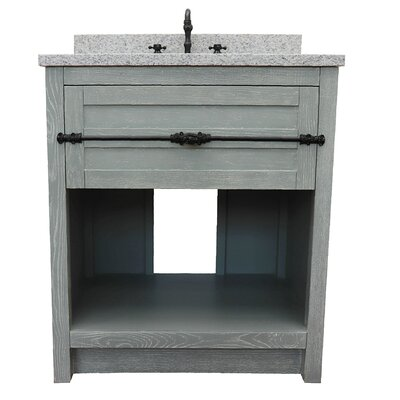 "Zimmer 31"" Single Bathroom Vanity Set Color: Gray Ash/Gray Granite"
