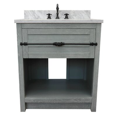 "Zimmer 31"" Single Bathroom Vanity Set Color: Gray Ash/White Carrara"