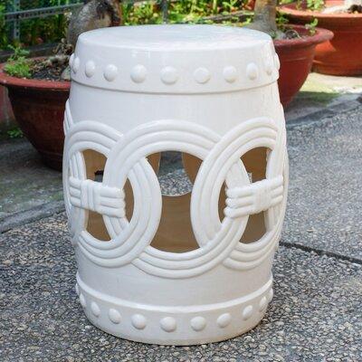 Kilpatrick Feng Shui Ceramic Garden Stool Color: Antique White