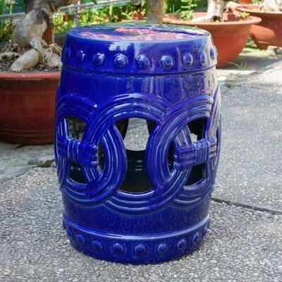 Kilpatrick Feng Shui Ceramic Garden Stool Color: Navy
