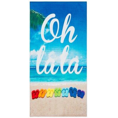 Aberdeenshire Oh La La 100% Cotton Beach Towel