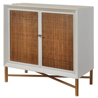Courson Woven 1 Door Accent Cabinet