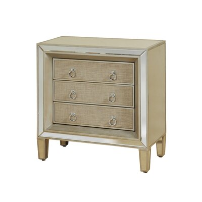 Montano Mirrored 3 Drawer Accent Chest