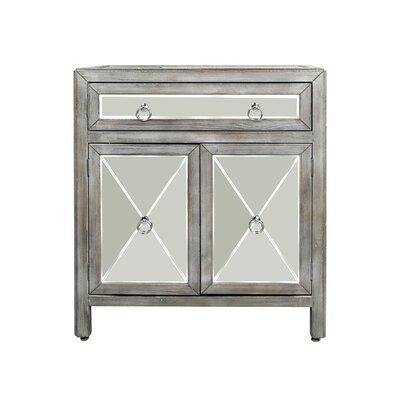 Monsen Mirrored 2 Door Accent Cabinet