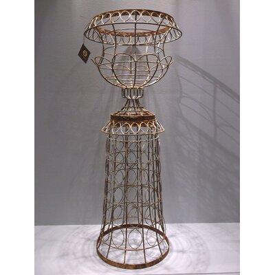 "Chapple Wire 2-Piece Metal Urn Planter Size: 33"" H x 17"" W x 17"" D"