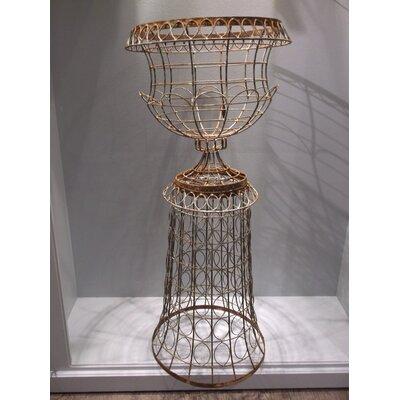 "Chapple Wire 2-Piece Metal Urn Planter Size: 43"" H x 20"" W x 20"" D"