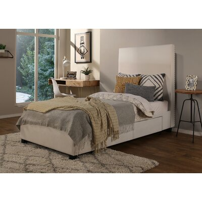 Ariane Twin Platform Bed Fabric Color: Ivory, Number of Drawer: 2 Drawer