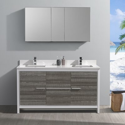 "Trieste Allier Rio 60"" Double Bathroom Vanity Set"