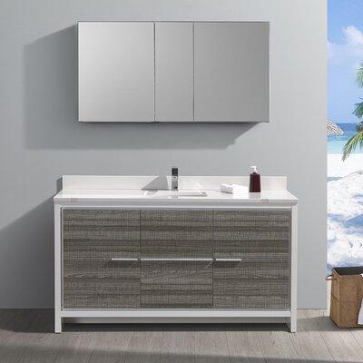 "Trieste Allier Rio 60"" Single Bathroom Vanity Set"