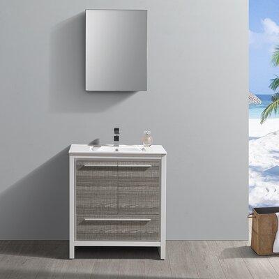 "Trieste Allier Rio 30"" Single Bathroom Vanity Set"