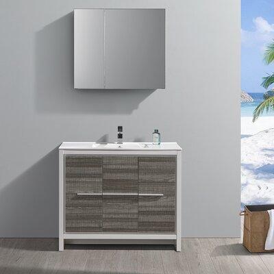 "Trieste Allier Rio 39"" Single Bathroom Vanity Set with Mirror"