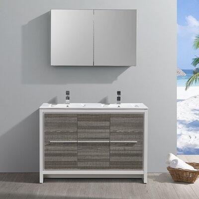 "Trieste Allier Rio 47"" Double Bathroom Vanity Set with Mirror"