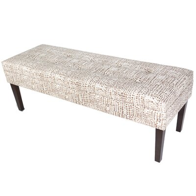 Lehto Upholstered Bench Upholstery Color: Brown